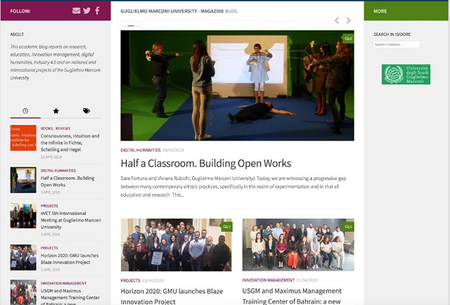 Guglielmo Marconi University launches The Academic Blog